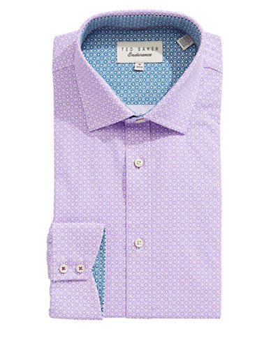 Ted Baker Endurance Endurance Sterling Floral Dress Shirt-PURPLE-17.5-32/33