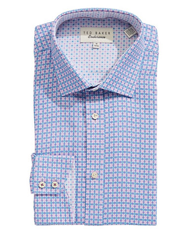 Ted Baker Endurance Endurance Sterling Check Dress Shirt-PURPLE-17.5-32/33