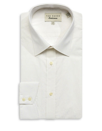 Ted Baker Endurance Endurance Timeless Cotton Dress Shirt-WHITE-16-32/33