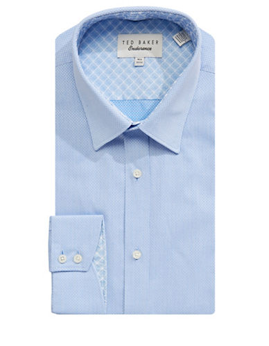 Ted Baker Endurance Endurance Oaker Cotton Dress Shirt-BLUE-16.5-32/33