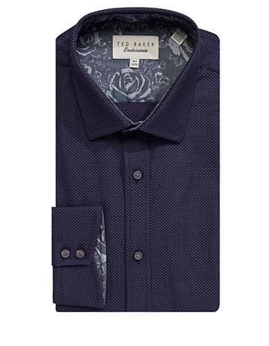 Ted Baker Endurance Endurance Sterling Plaid Shirt-PURPLE-16.5-32/33