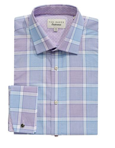 Ted Baker Endurance Endurance Sterling Plaid Shirt-PURPLE-15.5-34/35