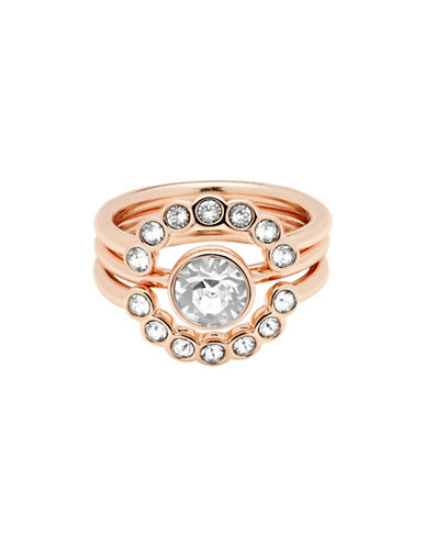 Ted Baker London Cadyna Concentric Swarovski Crystal Ring-ROSE GOLD-S/M