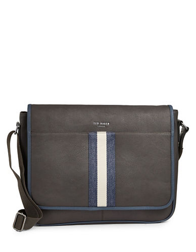 Ted Baker London Webbing Messenger Bag-BROWN-One Size