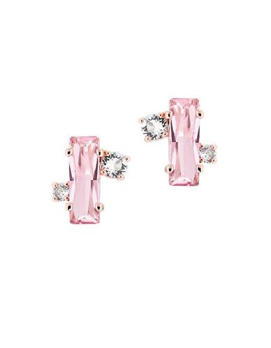 Ted Baker London Bria Swarovski Crystal Baguette Cluster Stud Earrings-PINK-One Size