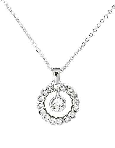 Ted Baker London Cadhaa Concentric Swarovski Crystal Pendant Necklace-SILVER-One Size