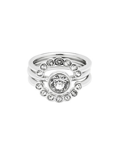 Ted Baker London Cadyna Concentric Swarovski Crystal Ring-SILVER-S/M