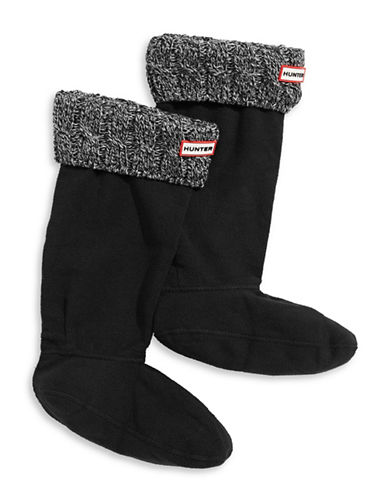 Hunter Tall Cable Knit Boot Socks-GREY-Medium
