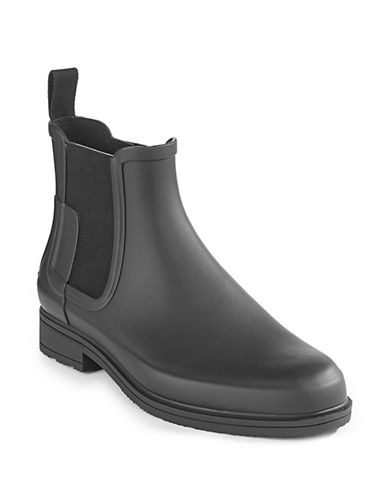 Hunter Original Refined Chelsea Boots-BLACK-7