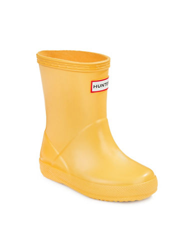 Hunter Kids First Classic Rain Boots-YELLOW-12