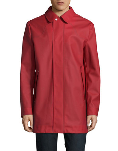 Hunter Original Rubberized Raincoat-RED-Small