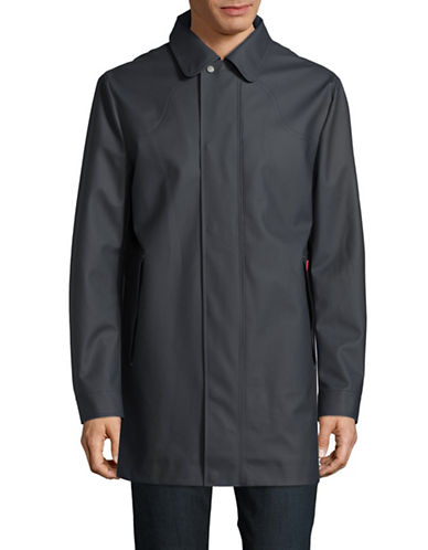 Hunter Original Rubberized Raincoat-BLUE-Small