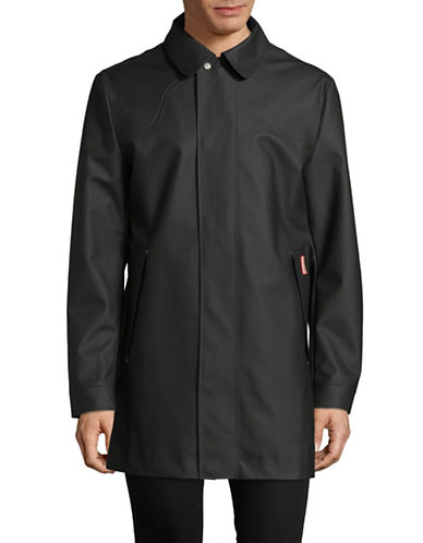 Hunter Original Rubberized Raincoat-BLACK-Medium
