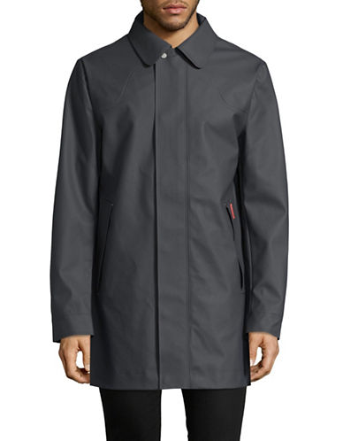 Hunter Original Rubberized Raincoat-GREY-Large