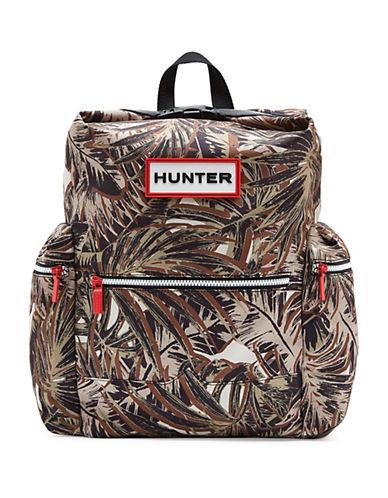 Hunter Jungle Camo Printed Nylon Backpack-GREEN CAMO-One Size