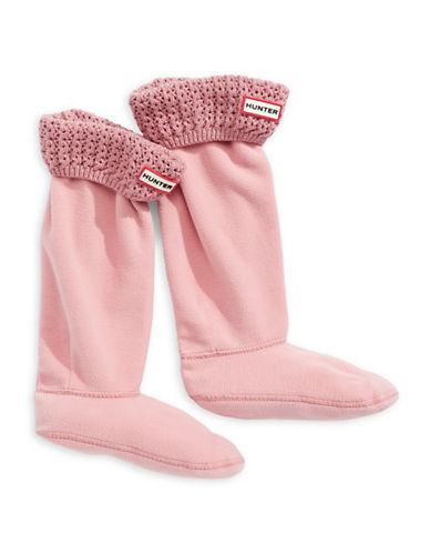 Hunter Tall Lace Net Cuff Boot Socks-PINK-Medium