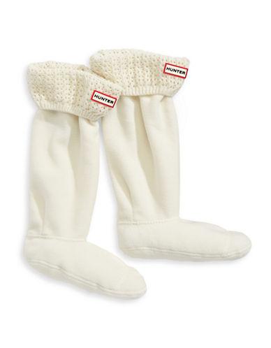Hunter Tall Lace Net Cuff Boot Socks-NATURAL-Large