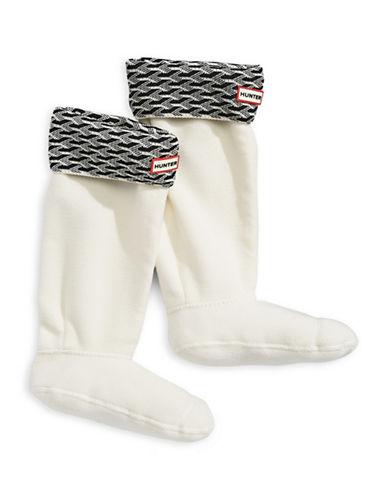 Hunter Tall 3D Geo Cuff Boot Socks-OFF WHITE-Large