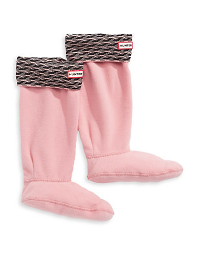 Hunter Tall 3D Geo Cuff Boot Socks-PINK-Large