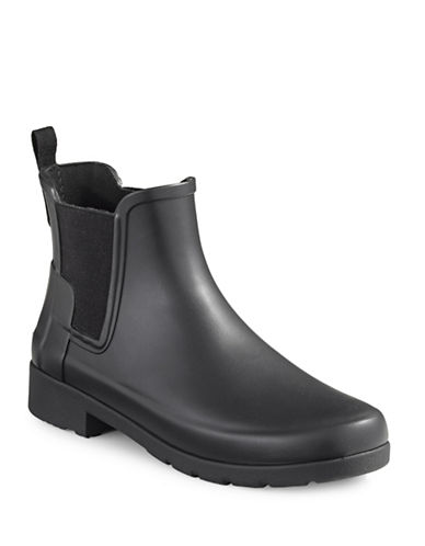 Hunter Original Refined Chelsea Rain Boots-BLACK-9