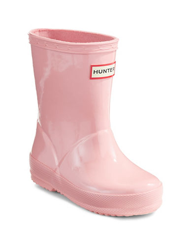 Hunter Kids Original First Classic Gloss Rain Boots-PINK-10
