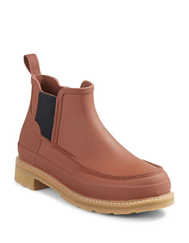 Hunter Original Moc Toe Chelsea Boots-BURNT SIENNA-11