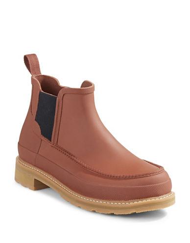 Hunter Original Moc Toe Chelsea Boots-BURNT SIENNA-8