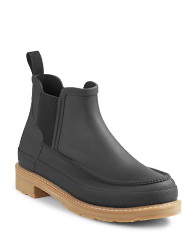 Hunter Original Moc Toe Chelsea Boots-BLACK-8