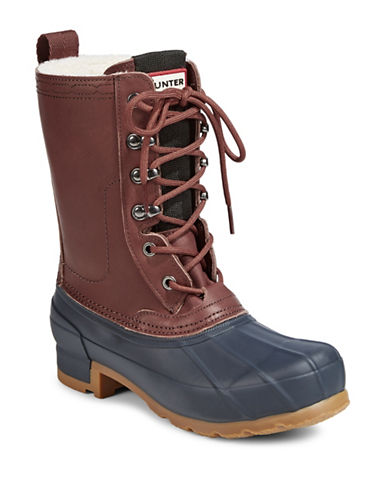 Hunter Womens Original Insulated Pac Boots-NAVY-11
