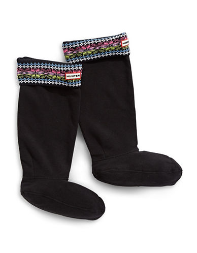 Hunter Fair Isle Boot Socks for Original Tall Boots-PINK-Small/Medium