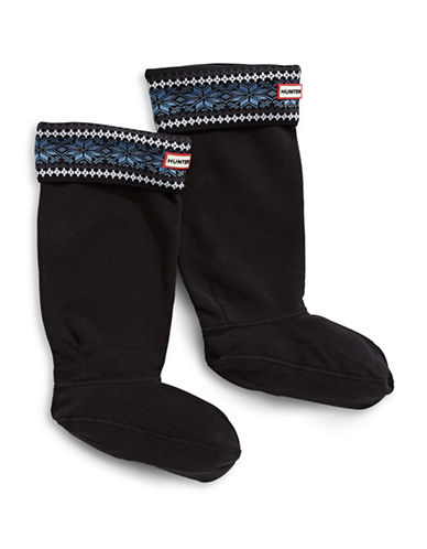 Hunter Fair Isle Boot Socks for Original Tall Boots-BLUE-Small/Medium