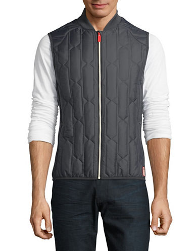 Hunter Original Mid-Layer Gilet-GREY-Large
