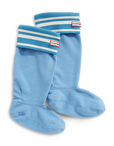 Hunter Striped Cuff Boot Socks-BLUE-Large