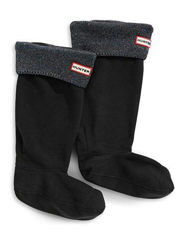 Hunter Original Glitter Boot Socks-BLACK-Large