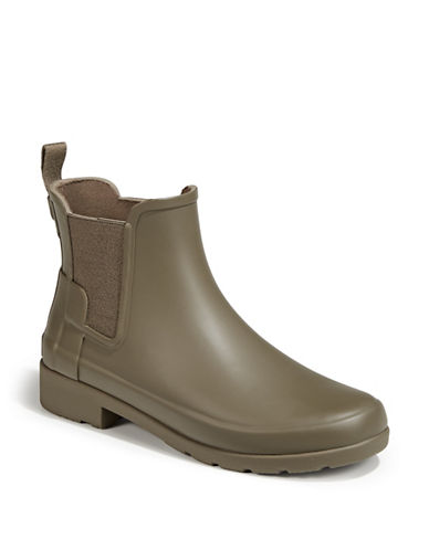 Hunter Round Toe Chelsea Boots-GREEN-5