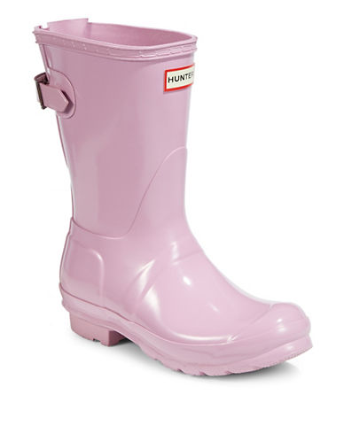 Hunter Adjustable Gloss Rain Boots-PINK-10