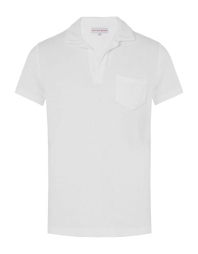 Orlebar Brown Terry Polo Shirt-WHITE-Small
