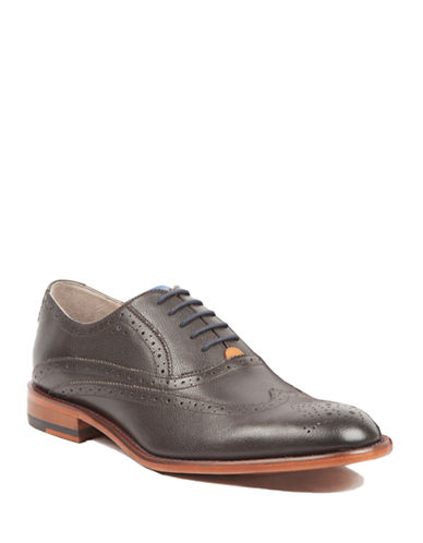 Sweeney London Full Brogue Oxford Leather Shoes-BROWN-UK 7/US 8