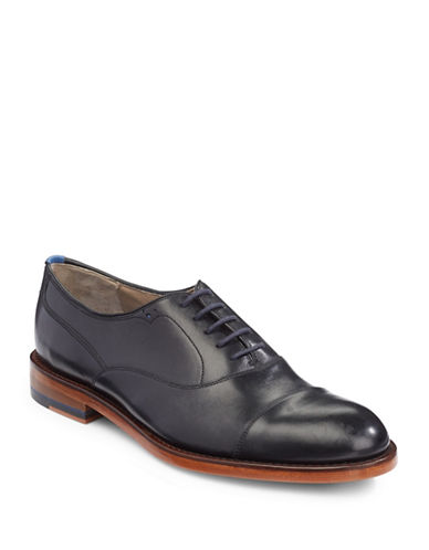 Sweeney London Lupton Leather Oxford Shoes-BLACK-UK 9/US 10