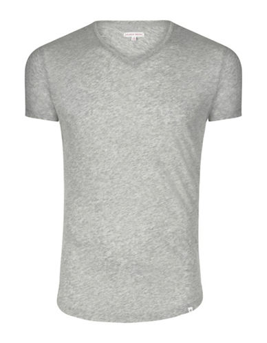 Orlebar Brown Curved Hem T-Shirt-MID GREY-Small