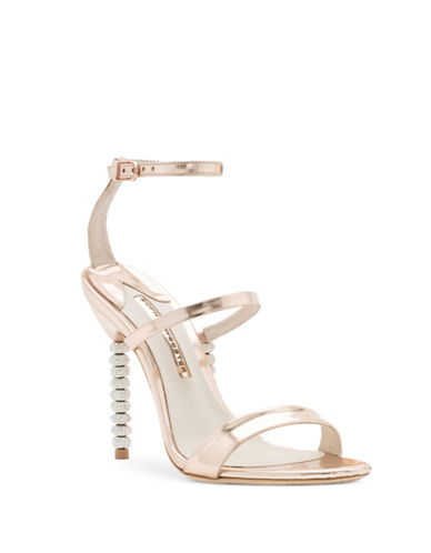 Sophia Webster Rosalind Leather Crystal-Embellished Ankle-Strap Sandals-ROSE GOLD-EUR 36.5/US 6.5