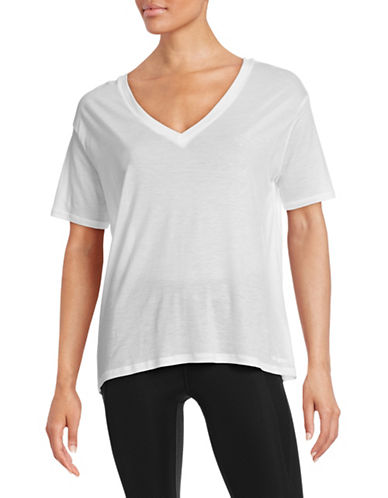 Ivy Park Oversized V-Neck Tee-WHITE-Small 88384582_WHITE_Small