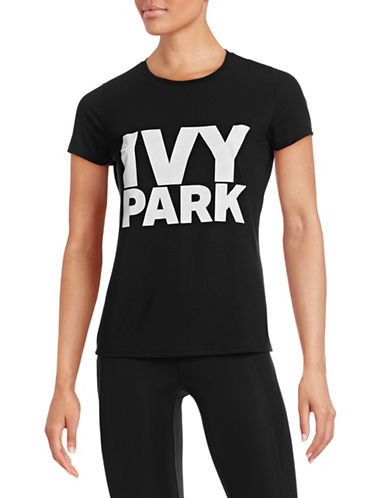 Ivy Park Logo Crew Neck Tee-BLACK-Large