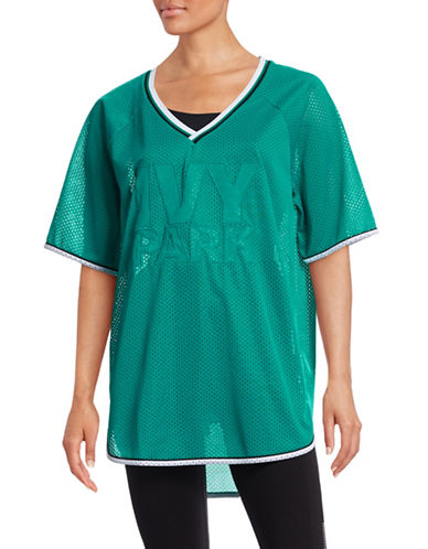 Ivy Park Basketball Mesh Logo T-Shirt-GREEN-Medium 88392138_GREEN_Medium