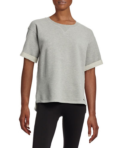 Ivy Park Short-Sleeved Sweatshirt-GREY-Small 88392082_GREY_Small
