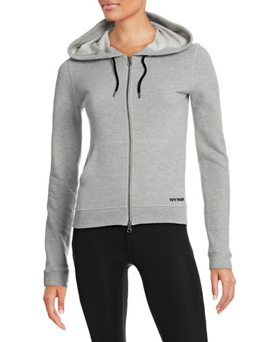 Ivy Park Jersey Zip-Up Hoodie-GREY-X-Small 88384676_GREY_X-Small