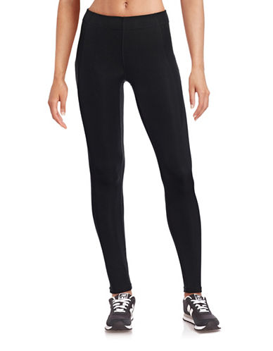 Ivy Park V - Mid-Rise Ankle Leggings-BLACK-Large