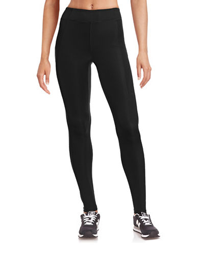 Ivy Park Y - High-Rise Ankle Leggings-BLACK-Large