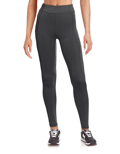 Ivy Park Y - High-Rise Ankle Leggings-GREY-X-Small