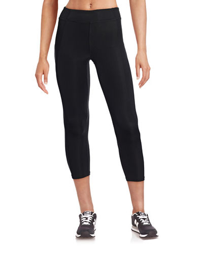 Ivy Park Y - High-Rise Three-Quarter Leggings-BLACK-Medium 88384396_BLACK_Medium